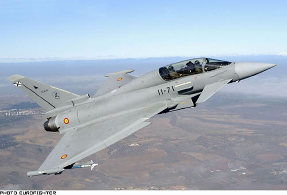 avion de chasse eurofighter typhoon